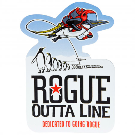 Rogue Ale Outta Line Penguin Sticker