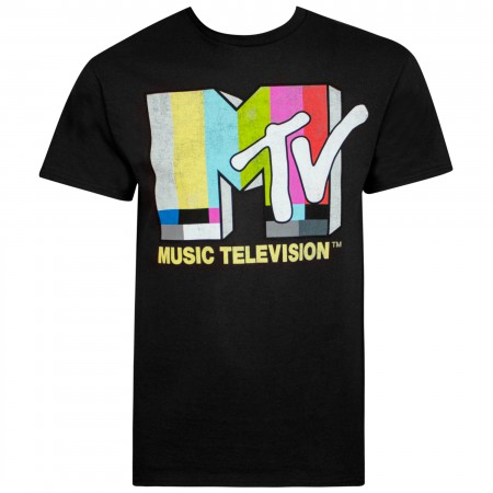MTV Black Classic Logo Men's T-Shirt