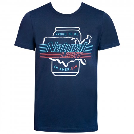 Natural Natty Light Men's Blue Ameri-Can T-Shirt