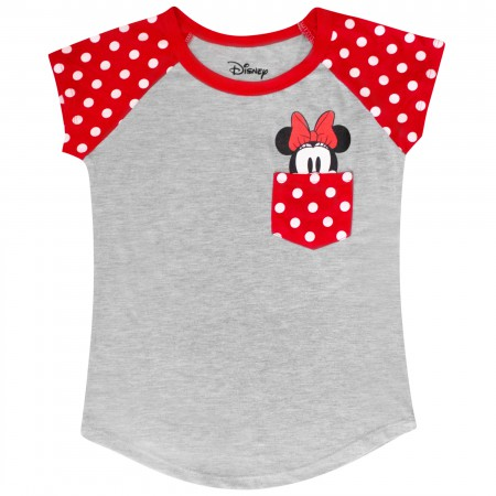 Minnie Mouse Smile Youth Sized Pocket Tee