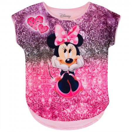 Minnie Mouse Smile Sparkle Youth Size Tshirt