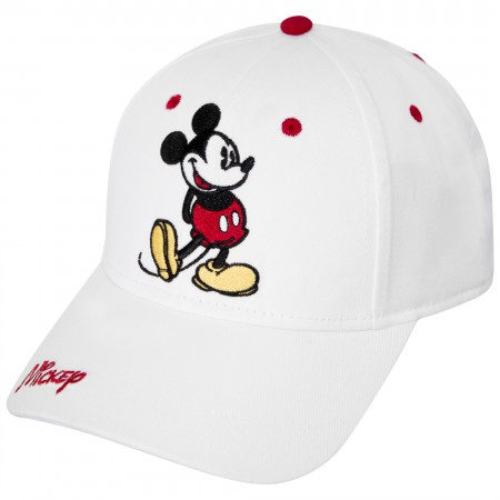 Mickey Mouse Pose White Dad Hat