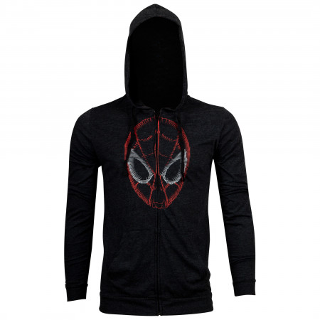Spider-Man Face Fleece Zipper Hoodie