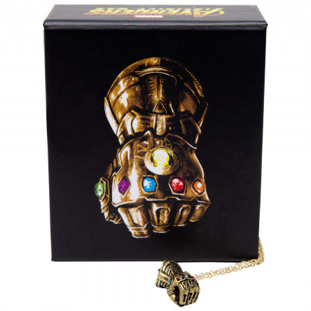 Infinity Gauntlet 3D Pendant Necklace