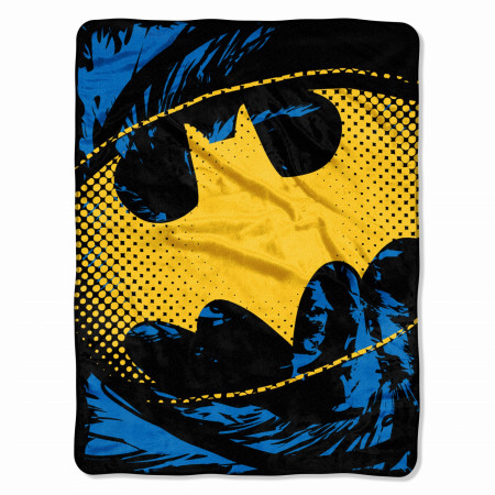 Batman Yellow Symbol Throw Blanket