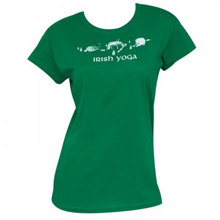 Irish Yoga St. Patrick's Day Green Juniors Graphic T Shirt