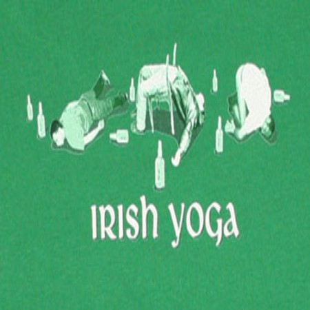 Irish Yoga St. Patrick's Day Green Juniors Graphic T Shirt