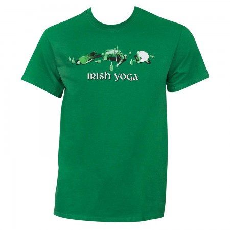 Irish Yoga St. Patrick's Day Green Graphic Tee Shirt