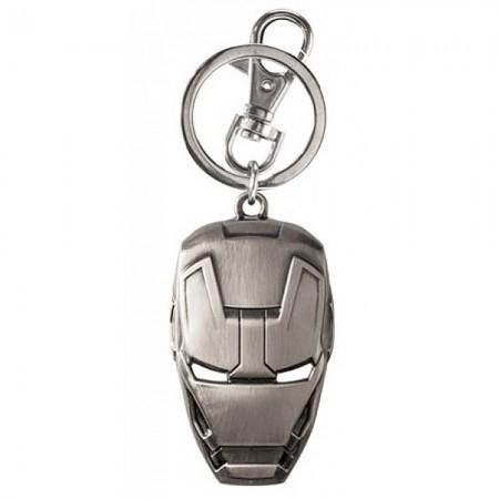 Ironman Silver Mask Keychain