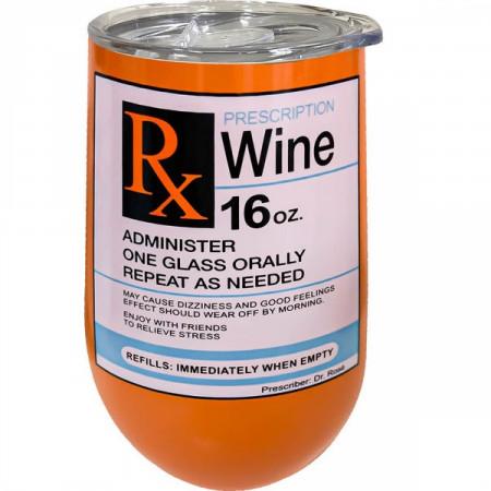 Prescription Wine Stainless Steel 16 Oz Wine Tumbler