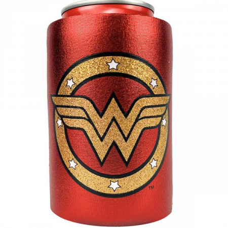 Wonder Woman Symbol Metallic Finish Can Cooler