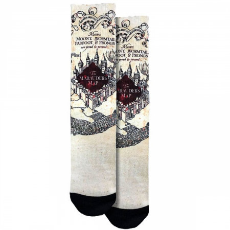 Harry Potter The Marauder's Map Crew Socks