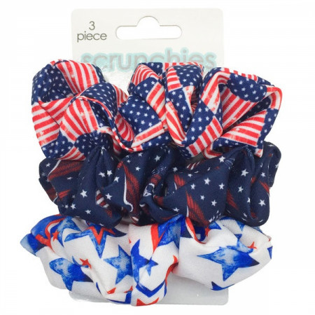 American Flag 3-Piece Scrunchies Set