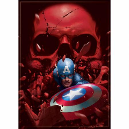 Marvel Comics Captain America Breaking Through The Red Skull Magnet
