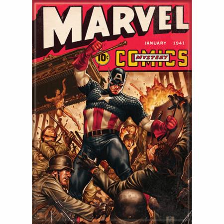 Marvel Mystery Comics Captain America & Namor WWII Comic Cover Magnet