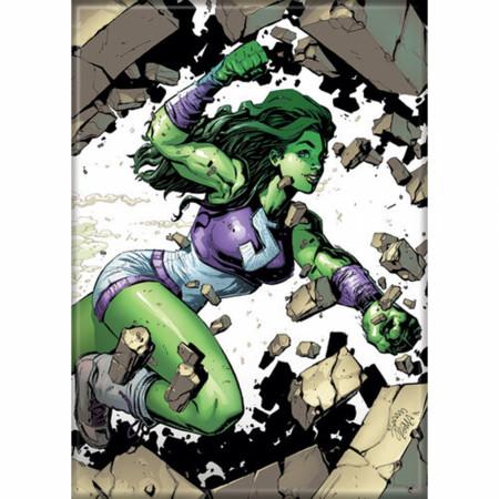 Marvel Comics She-Hulk Character Smash Magnet