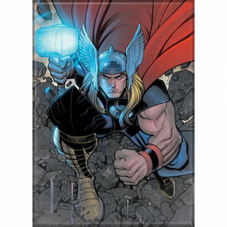 Marvel Comics Thor Character Breaking Flight Magnet
