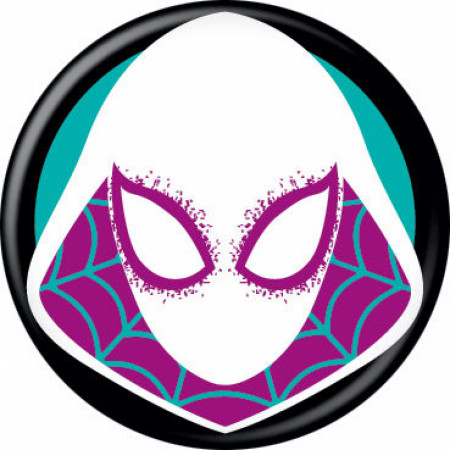 Spider-Gwen Costume Mask Button