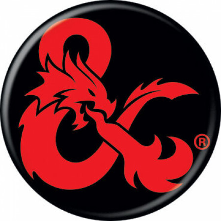 Dungeons & Dragons Ampersand Logo Button
