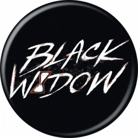 Black Widow Movie Text Symbol Button