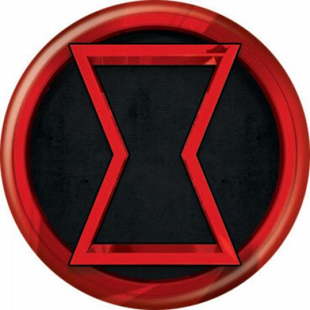 Black Widow Movie Symbol Button