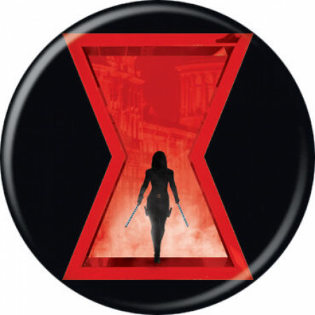 Black Widow Movie Symbol With Character Button