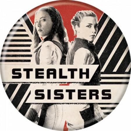 Black Widow Movie Stealth Sisters Characters Button