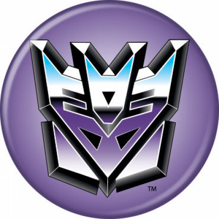 The Transformers Decepticons Logo Button