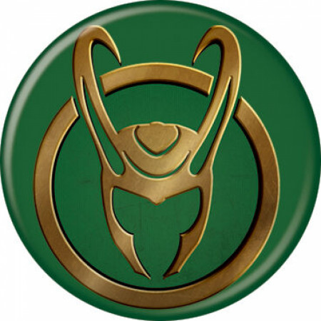 Marvel Studios Loki Series Helmet Symbol Button