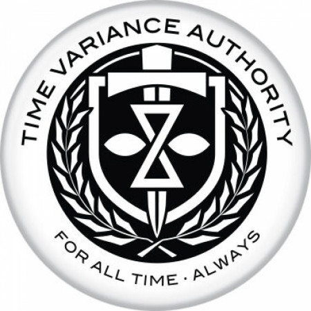 Marvel Studios Loki Series Time Variance Authority Crest Button