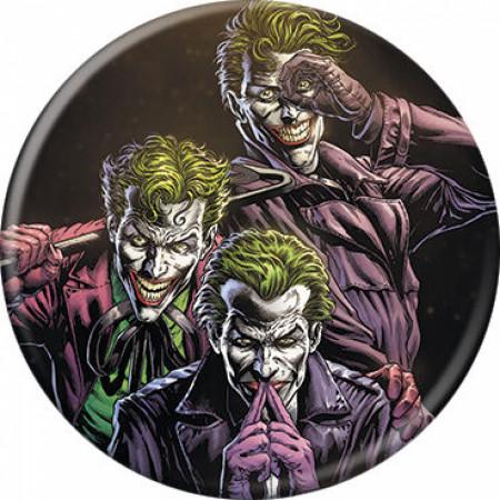 DC Comics Three of a Kind Jokers Killing Joke Style Button