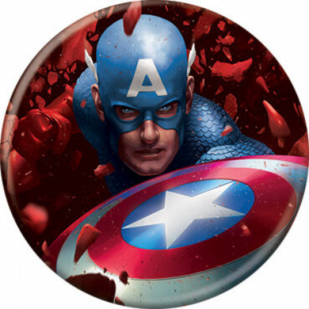 Marvel Comics Avengers Captain America Through the Red Skull Button