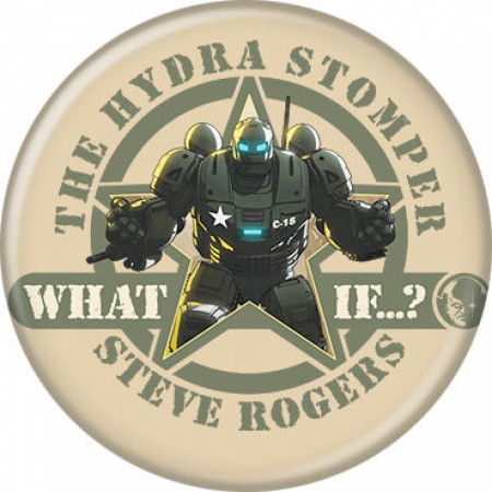 Marvel Studios What If...? Series Hydra Stomper Steve Rogers Button