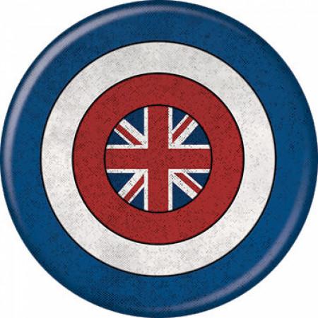 Marvel Studios What If...? Series Captain Carter Shield Symbol Button