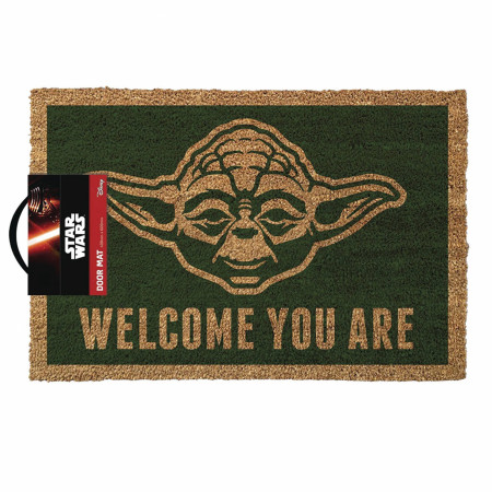 """Star Wars Yoda Welcome You Are 17""""x 29"""" Doormat with Non-skid Back"""