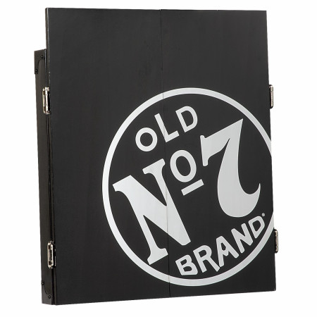 Jack Daniels Old No.7 Brand Dartboard Cabinet Set