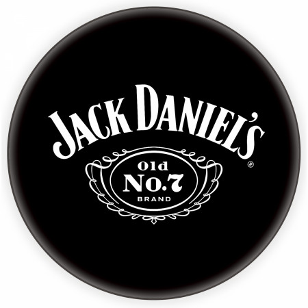 Jack Daniels Old No. 7 Brand Bar Stools with Backrest