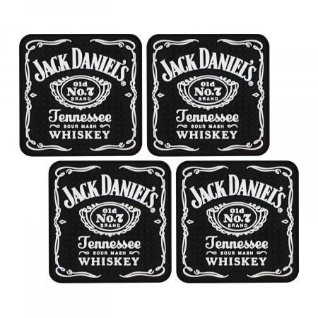 Jack Daniels Black Bar Mat Coaster Set