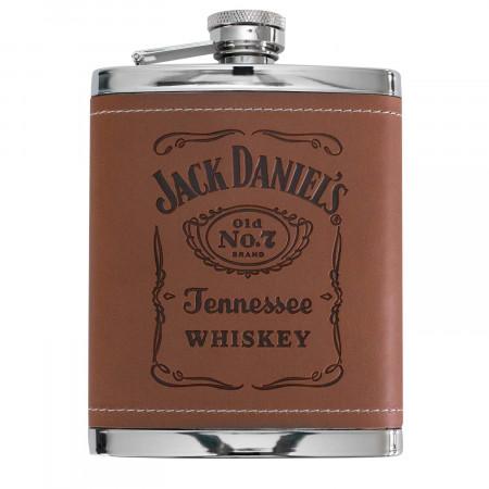 Jack Daniels Brown Leather Flask