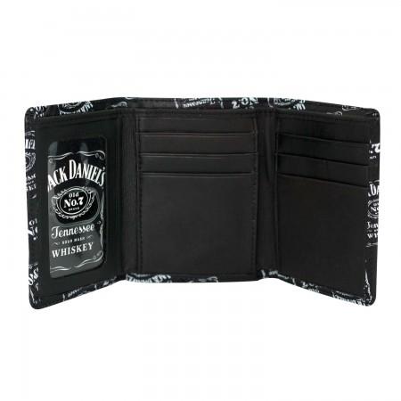 Jack Daniels Logos Black Wallet