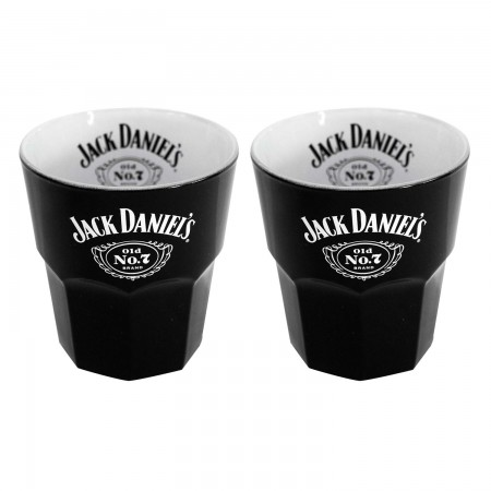 Jack Daniels Black Set Of 2 Old Fashion Glasses