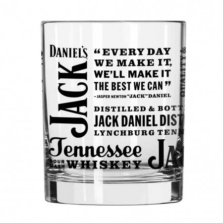 Jack Daniels Clear Tennessee Whiskey Spirit Rocks Glass