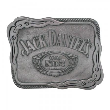 Jack Daniels No. 7 Silver Scroll Belt Buckle