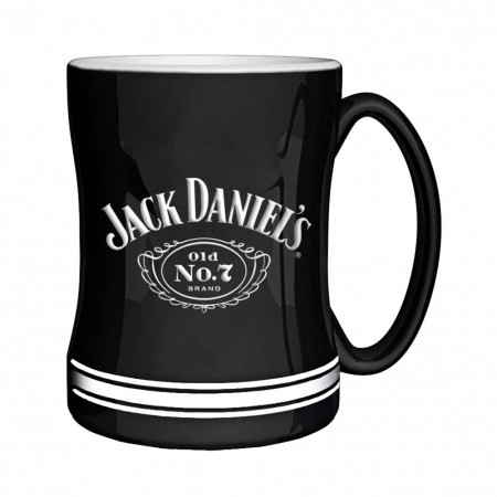 Jack Daniels Black No. 7 Sculpted Relief Mug