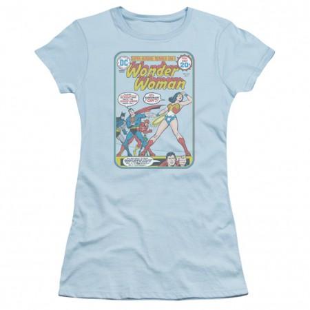 Wonder Woman Cover #212 Women's Blue Tshirt