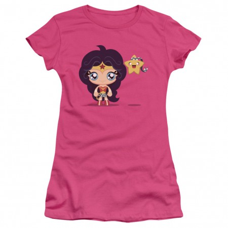 Wonder Woman Cute Women's Pink Tshirt