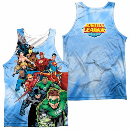Justice League Heroes Unite Sublimation Tank Top