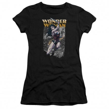 Wonder Woman Slice Women's Black Tshirt