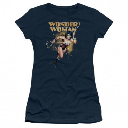 Wonder Woman Star Lasso Women's Blue Tshirt