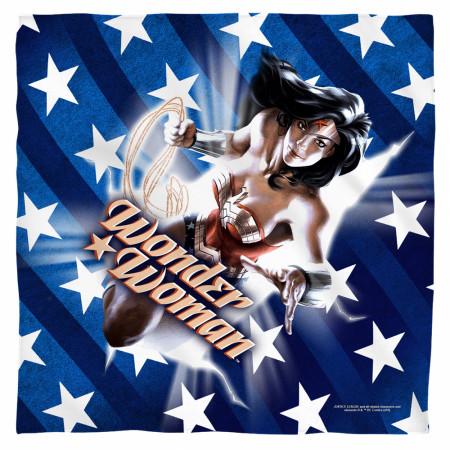 Wonder Woman Stars and Stripes Bandana